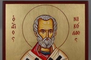 Saint Nicholas of Myra Hand-Painted Byzantine Icon