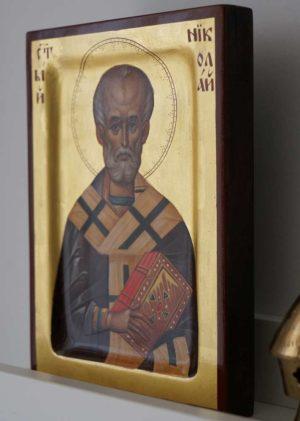 Saint St Nicholas of Myra Hand Paunted Byzantine Orthodox Icon