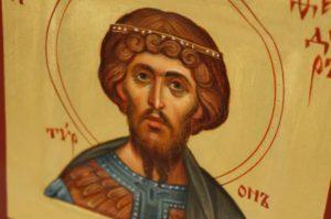 Saint St Theodore Tiron Tyron Tyro Hand Painted Byzantine Orthodox Icon