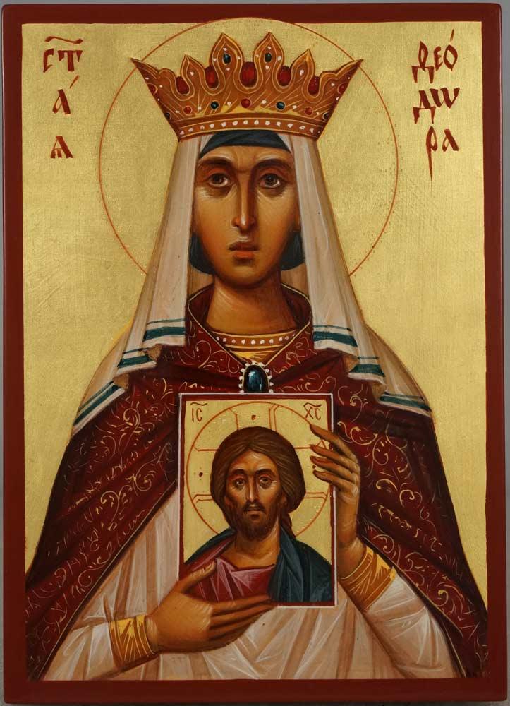 Saint Theodora the Empress Hand-Painted Orthodox Icon