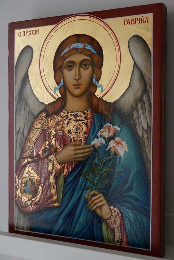 St Archangel Gabriel Hand Painted Orthodox Icon on Wood