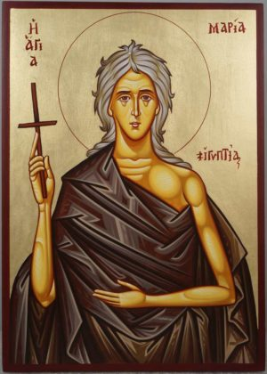 St Saint Mary of Egypt Hand-Painted Greek Orthodox Icon