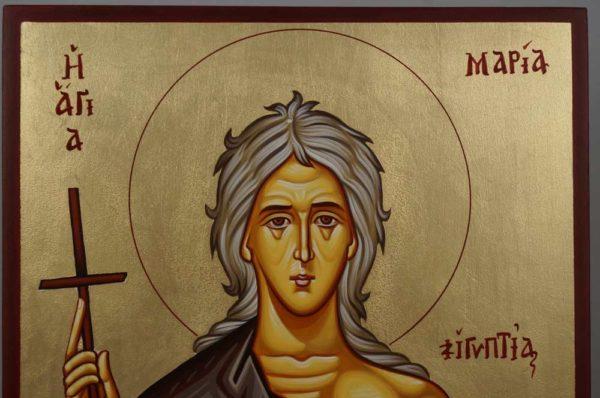 St Saint Mary of Egypt Hand-Painted Greek Orthodox Icon