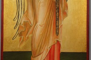 The Guardian Angel Full Body Hand Painted Byzantine Orthodox Icon on Wood