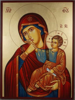 Theotokos Paramythia Hand-Painted Greek Orthodox Icon