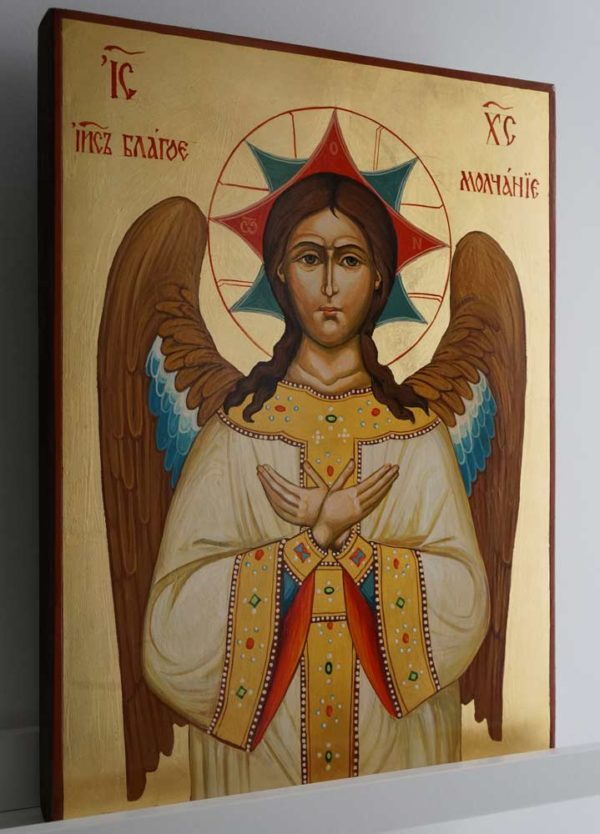 Blessed Silence Hand Painted Orthodox Holy Byzantine Icon