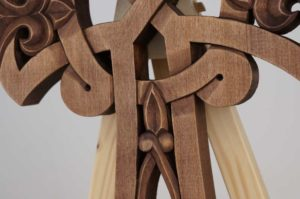 Hand Carved Wooden Celtic Cross Orthodox