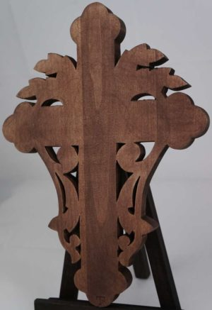 Hand Carved Wooden Cross Byzantine Orthodox