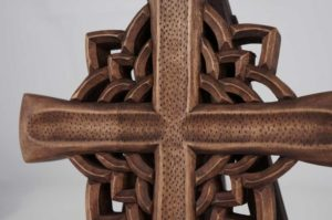 Hand Carved Wooden Cross Orthodox