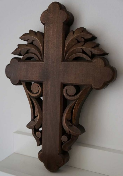 Hand Carved Wooden Orthodox Cross