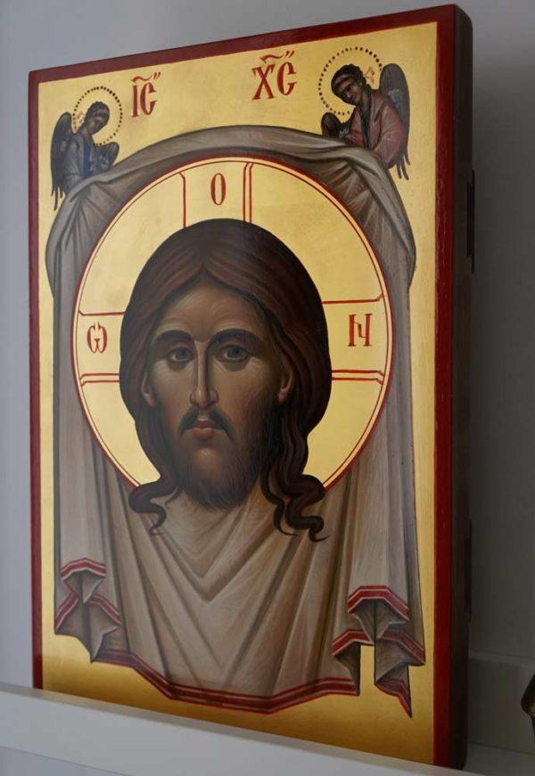 The Holy Face Mandylion Ubrus Hand Painted Byzantin Orthodox Icon