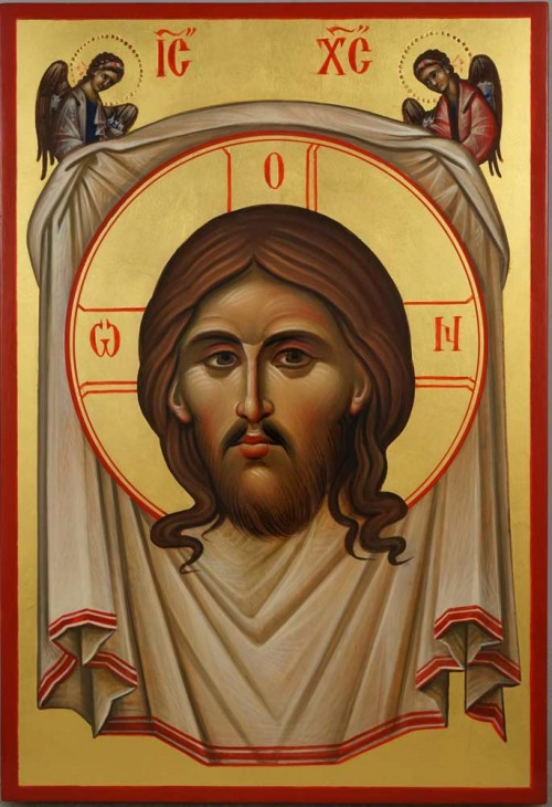 The Holy Face Mandylion Ubrus Hand Painted Byzantin Orthodox Icon