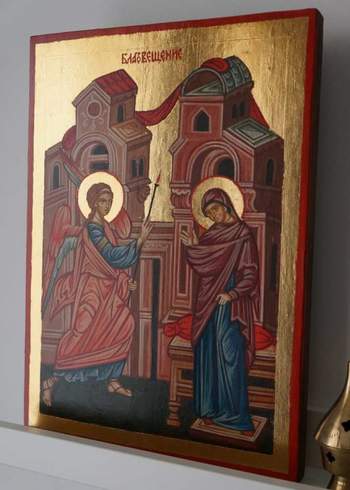 Annunciation of the Theotokos Hand Painted Byzantine Icon