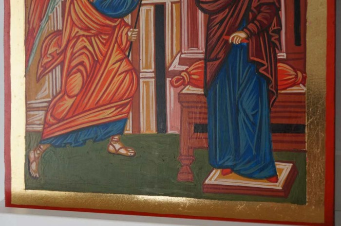Annunciation of the Theotokos Hand Painted Orthodox Icon on Wood