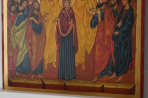 Ascension of Christ Hand Painted Orthodox Icon on Wood