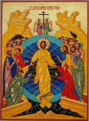 Harrowing of Hades Resurrection Hand Painted Orthodox Icon on Wood