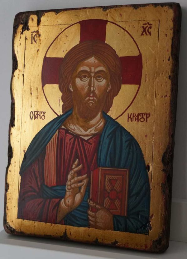 Jesus Christ Pantocrator Small Hand Painted Orthodox Icon