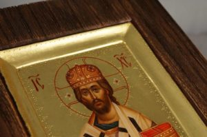 Jesus Christ the Great Hierarch Miniature Icon Hand Painted On Wood