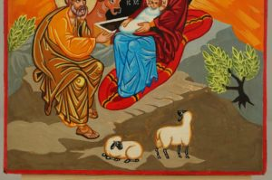 Nativity of Christ Hand Painted Icon Byzantine Orthodox on Wood
