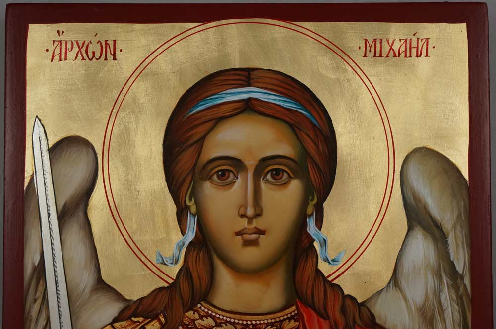 Saint Archangel Michael Hand Painted Orthodox Icon on Wood