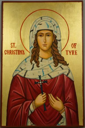 Saint Christina of Tyre Hand Painted Orthodox Icon