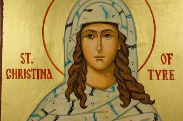 Saint Christina of Tyre Hand Painted Orthodox Icon