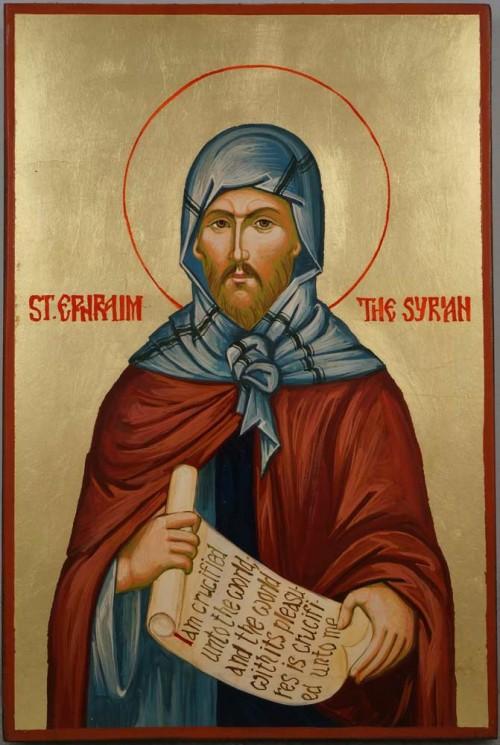 Saint Ephraim the Syrian Hand Painted Byzantine Orthodox Icon