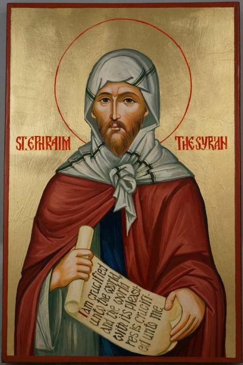 Saint Ephraim the Syrian Hand Painted Orthodox Icon
