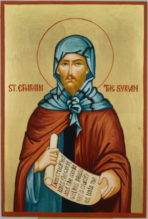 Saint Ephraim the Syrian Icon Hand Painted Byzantine Orthodox