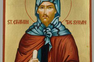 Saint Ephraim the Syrian Icon Hand Painted Byzantine Orthodox