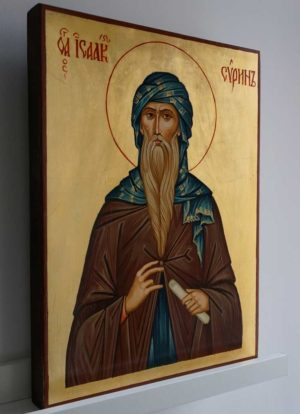 Saint Isaac the Syrian Hand Painted Orthodox Icon on Wood