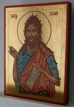 Saint John the Baptist small Hand Painted Orthodox Icon
