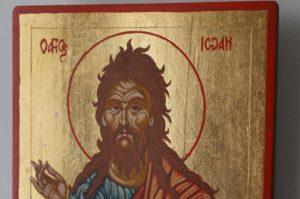 Saint John the Baptist small Hand Painted Orthodox Icon