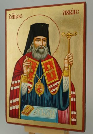 Saint Luke the Surgeon Icon Hand Painted Byzantine Orthodox