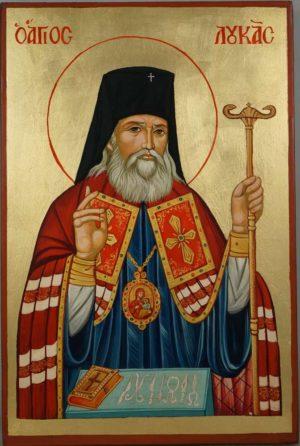 Saint Luke the Surgeon Icon Hand Painted Orthodox on Wood