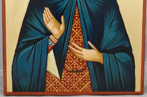 Saint Nonna Hand Painted Byzantine Orthodox Icon on Wood