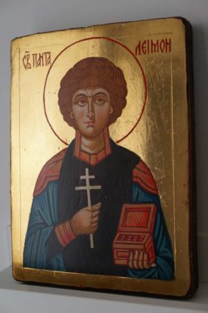 Saint Panteleimon the Healer Small Hand Painted Orthodox Icon