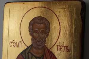 Saint Peter the Apostle Small Hand Painted Orthodox Icon