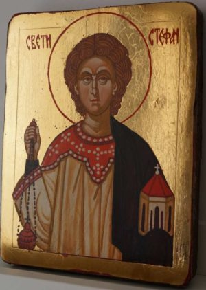 Saint Stephen Small Hand Painted Orthodox Icon