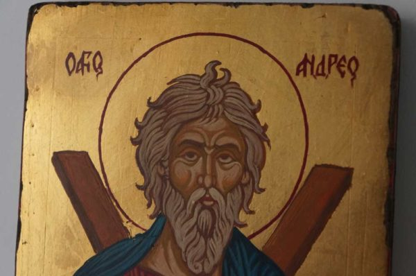 St Andrew the First Called Small Hand Painted Orthodox Icon