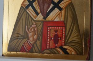 St Basil the Great Small Hand Painted Byzantine Icon