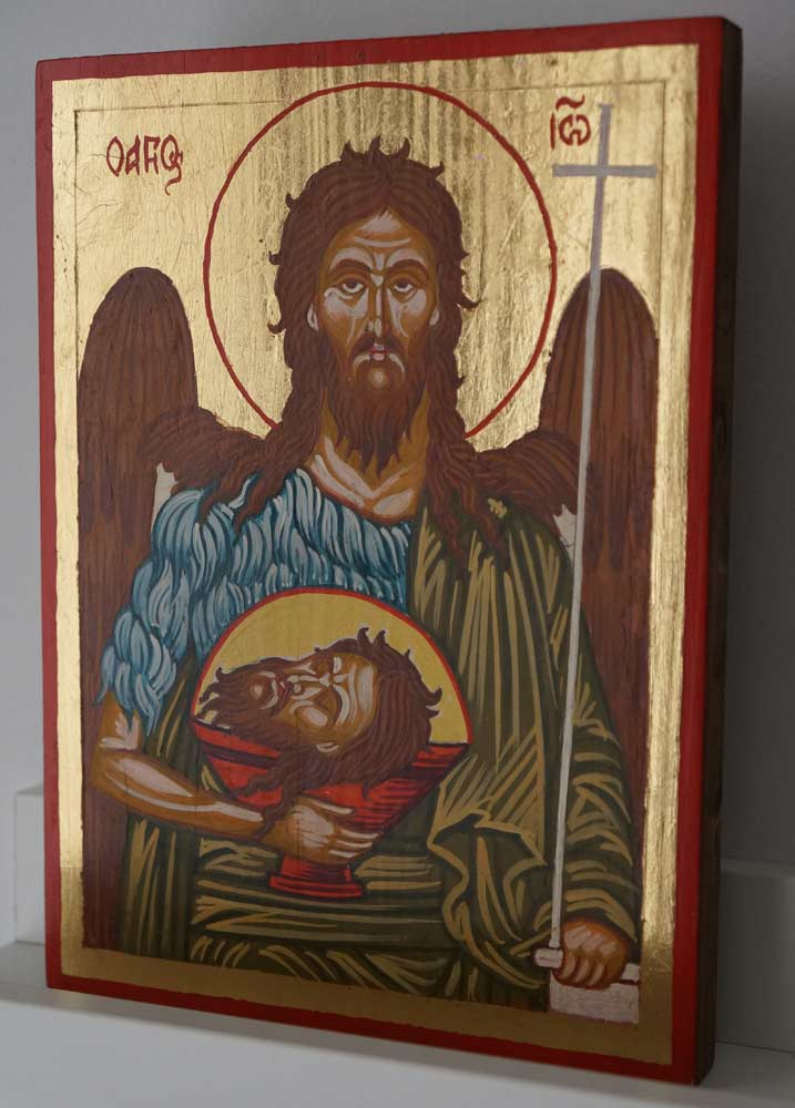 St John the Baptist small Hand Painted Byzantine Icon