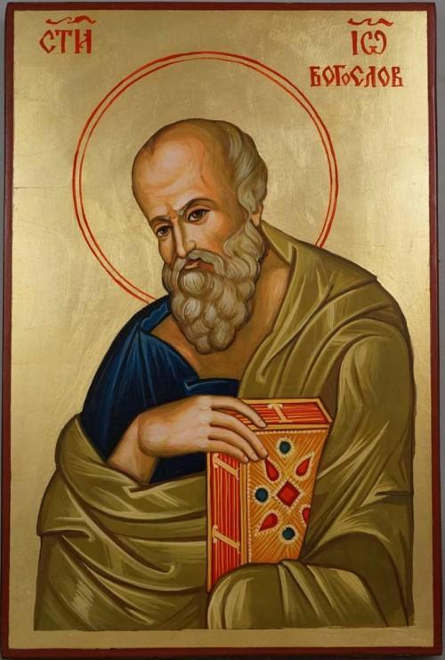 St John the Theologian Hand Painted Byzantine Orthodox Icon on Wood