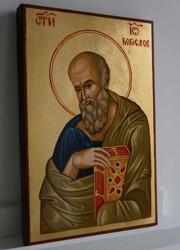 St John the Theologian Hand Painted Byzantine Orthodox Icon on Wood