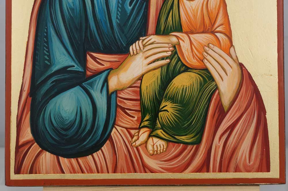 St Joseph and Child Jesus Large Hand Painted Orthodox Icon