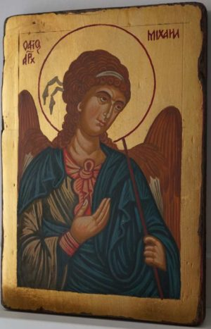 St Michael the Archangel Small Hand Painted Orthodox Icon