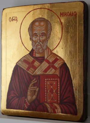 St Nicholas Small Hand Painted Orthodox Icon