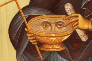 St Paraskevi Petka decorated halo Hand Painted Orthodox Icon on Wood
