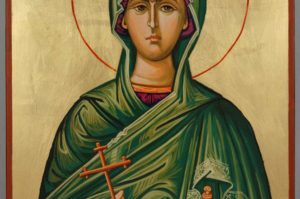 St Sophia Mother of Orphans Hand Painted Icon on Wood