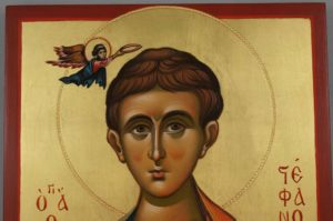 St Stephen Holy Protomartyr and Archdeacon Hand Painted Orthodox Icon